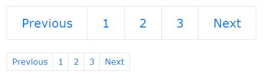 آموزش تعیین سایز دکمه های صفحه بندی Pagination