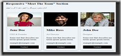 Meet The Team Page