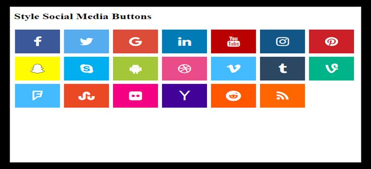 دکمه شبکه های اجتماعی در سایت