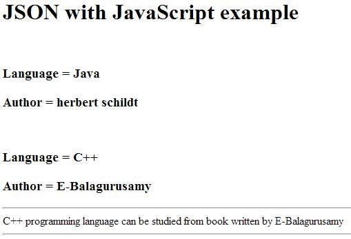 نمونه ی ساده از JSON